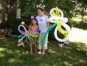 Photo: Giant flowers & Princess & Aunt Ann :)