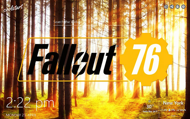 Fallout 76 HD Wallpapers Games New Tab Theme