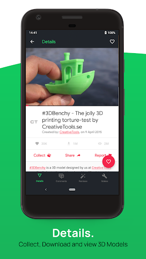 3D Geeks ?: Thingiverse Browser for 3D Printing ss2