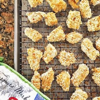 Gluten Free Spicy Baked Chicken Nuggets.