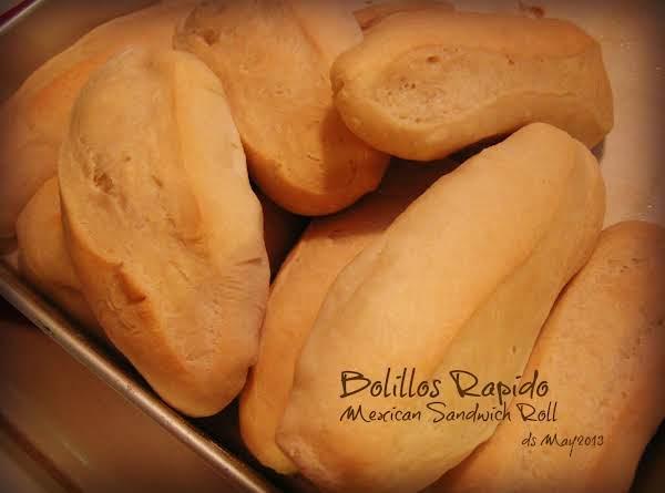 Bolillos Rapido Using Bread Machine Recipe