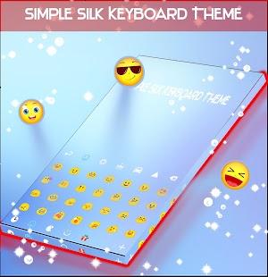 Simple Silk Keyboard Theme - náhled