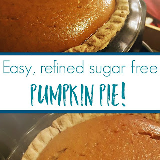 No-fail, Easy, Refined-sugar-free Pumpkin Pie