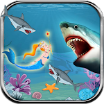 Hungry Shark Attack Mermaids Icon