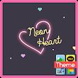 neon heart 카카오톡 테마