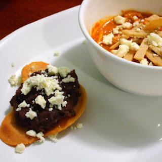 Black Bean Bear Tostadas and Tortilla Soup