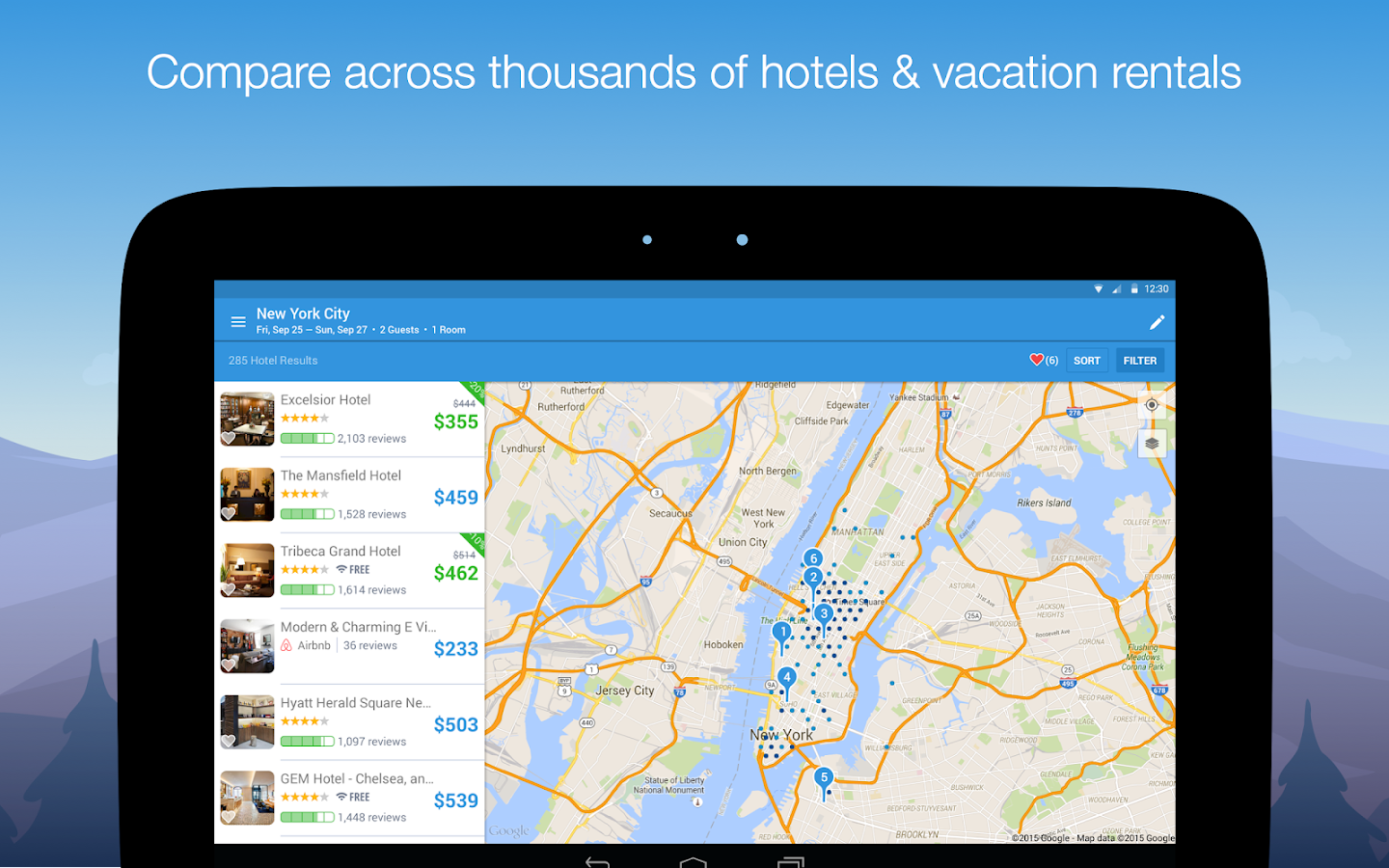 Hipmunk Hotels & Flights- screenshot