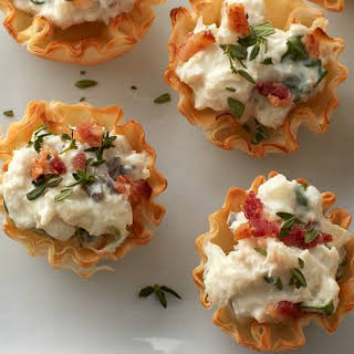Creamy Crab and Bacon Phyllo Cups.
