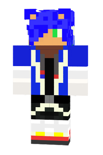 Free Download SONIC Skin For MINECRAFT PE APK Android Apps - Skin para minecraft pe