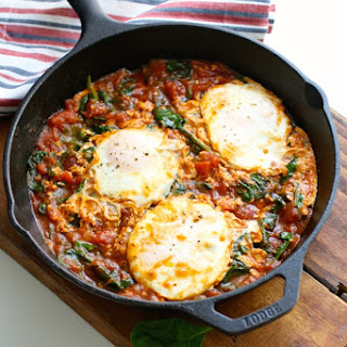 Eggs in Hatch Chile-Spiced Tomato Sauce