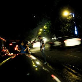 People on the streets  by Hrijul Dey - City,  Street & Park  Street Scenes ( cars, roadside, light, people, speed )