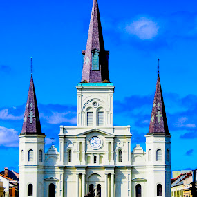 old church by Brett Kurtz - Buildings & Architecture Architectural Detail ( louis, new orleans, old, church, louisiana, nola, by, in, photos, jackson, cathedral, square, st, oldest )