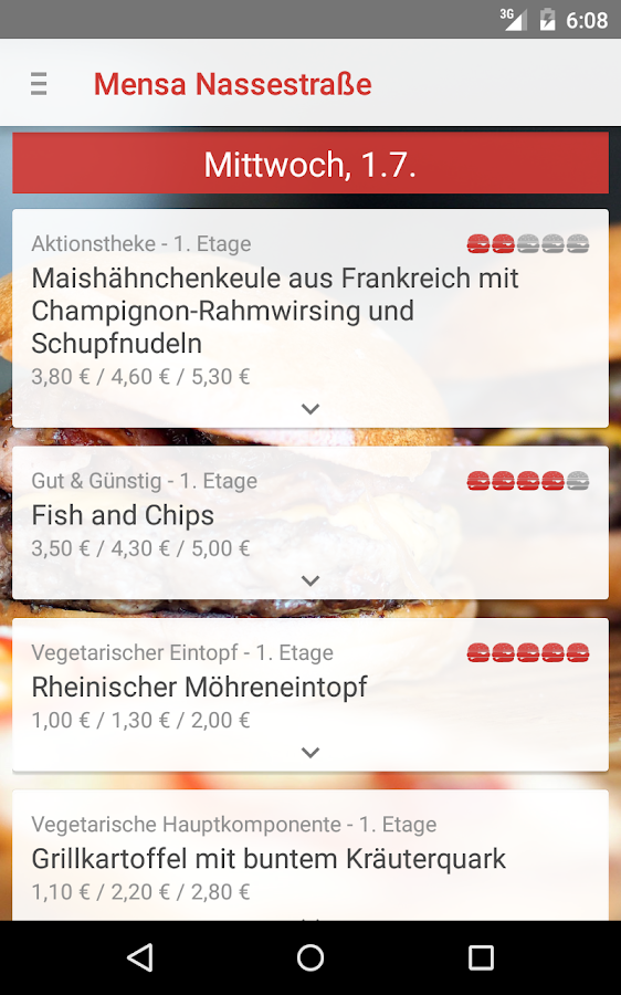 Mensa Flensburg- screenshot