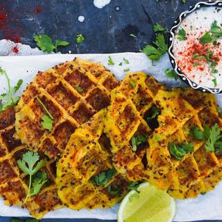 Spaghetti Squash and Quinoa Savory Waffles [Vegan]
