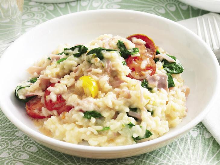 Ham, Spinach and Tomato Risotto Recipe