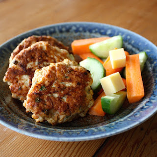 Chicken, carrot and feta patties (with GF and DF options).