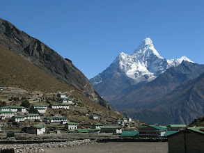 Photo: Ama Dablam view from Khumjung