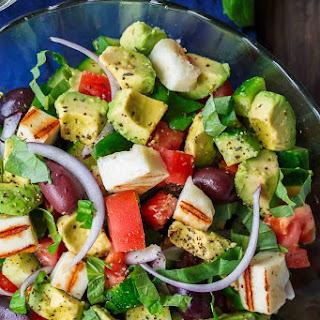 Simple Mediterranean Avocado Salad.