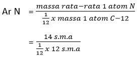 massa atom relatif N