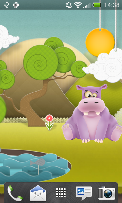 Скриншот Happy Hippo Live Wallpaper