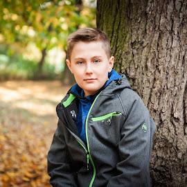 Franek by Paweł Mielko - Babies & Children Child Portraits ( child portrait, son, childhood, portraits, portrait photographers, portrait and people, autumn, portrait, boy, portraiture, child )
