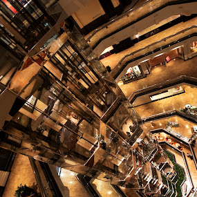 Water tower at Chicago by Cristobal Garciaferro Rubio - Buildings & Architecture Other Interior ( glass elevators, chicago, elevators, water tower )
