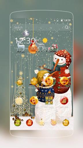 クリスマス雪の男