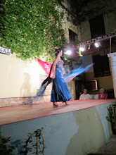 Photo: Several women performed solo routines. It was fascinating to watch their quick footwork and intensity.