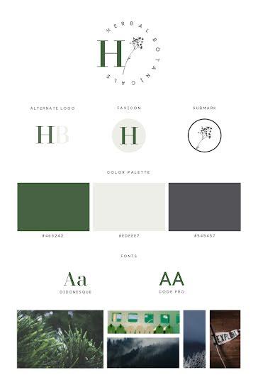 HB Brand Board - Brand Board template