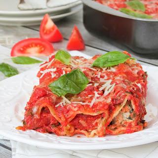 Chicken, Spinach and Ricotta Cannelloni.