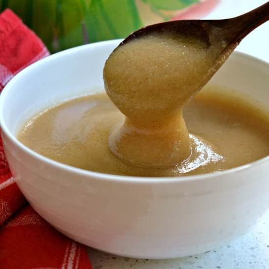 Homemade Applesauce Is So Incredibly Easy To Make With Four Ingredients In One Pot Right On The Stove-top.  Or Do It In The Crock-pot And Slow Cook Them For Hours Making Your House Smell Amazing.