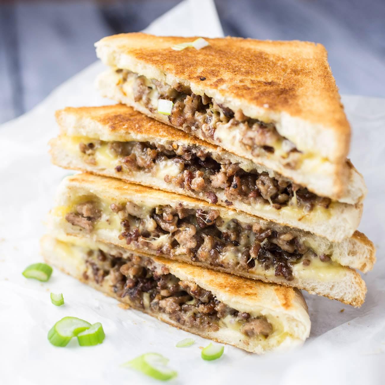 sports ground Beef Grilled Cheese Sandwich