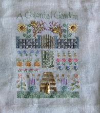 Photo: Completed 3 June 2010. Elizabeth Designs 2010 Garden Sampler from Stitching Friends Retreat 2010.