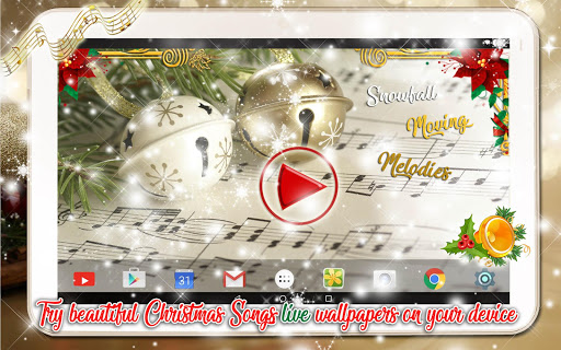 Christmas Songs Live Wallpaper with Music ud83cudfb6 2.8 screenshots 13