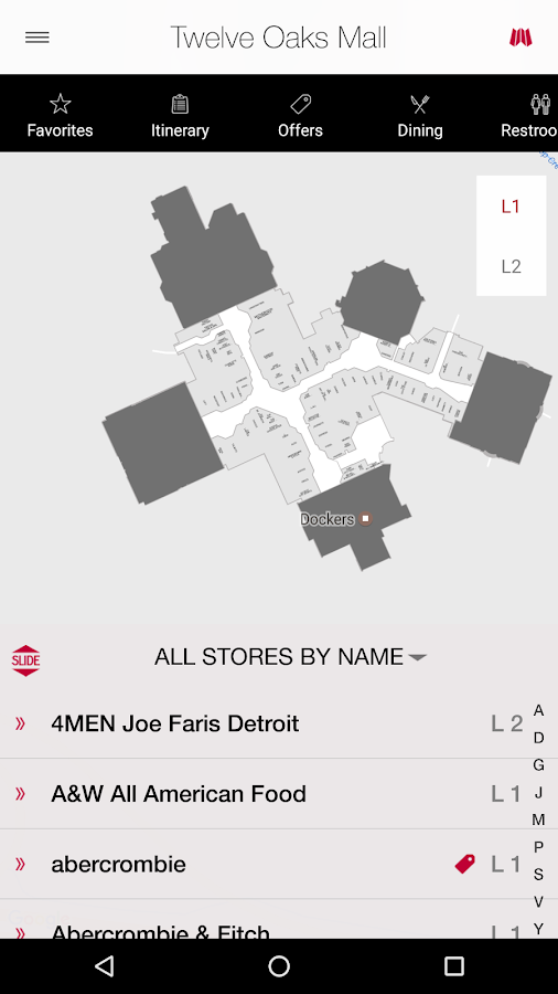 Twelve Oaks Mall- screenshot