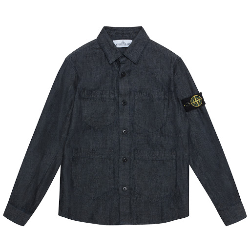Thumbnail images of Stone Island Denim Pocket Shirt