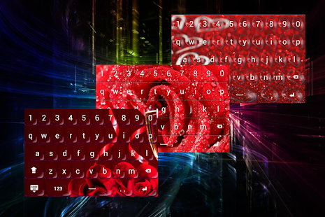 Red Keyboard Love for Girls - náhled