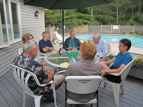 Photo: At the pool:  Michael, Mary, Bob, Peter, Ted, Lisa, and Dianne.