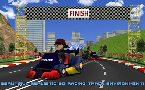Kids Police Car Racing screenshot 10