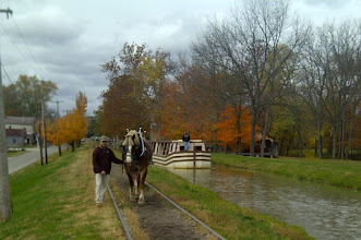 Photo: Metamora IN - Canal Boat and horse on Whitewater Canal