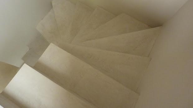 Escalier enduit de béton ciré décoratif