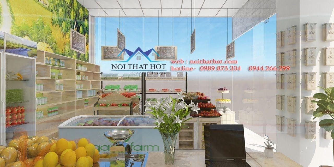 thiết kế cửa hàng hoa quả sạch 4