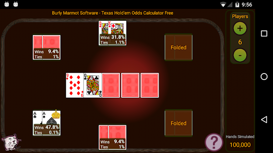 Hold'em Odds Calculator Free- screenshot thumbnail