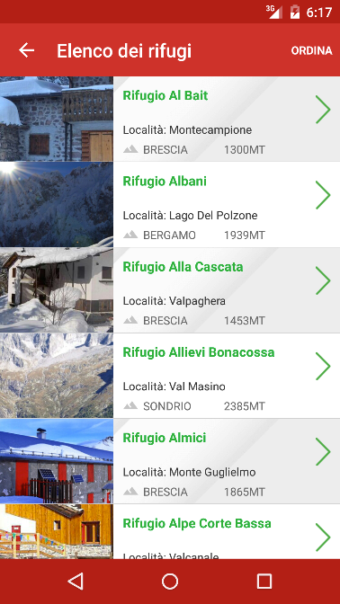 Rifugi di Lombardia- screenshot