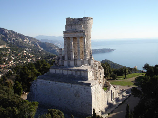 France-La-Turbie.jpg - La Turbie, France, overlooks the principality of Monaco on the Cote d'Azur.