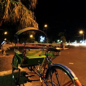 BECAK by Rudy Kurniawan - City,  Street & Park  Street Scenes