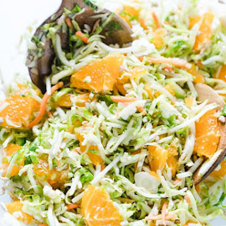 Raw Brussels Sprout Salad with Oranges Recipe