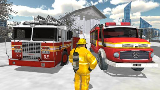 Fire Truck Rescue Simulator  screenshots 6
