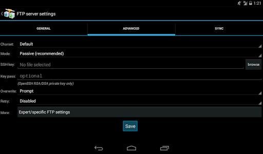 AndFTP screenshot 16