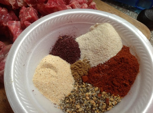 Add all the spices to a small bowl.